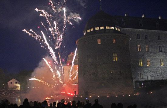 Fyrverkeri vid Slottet på Valborgsmässoafton.