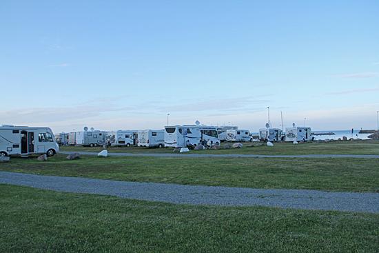 Ställplats Böda hamn Öland.