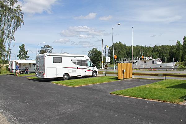 Ställplats Torshälla gästhamn.