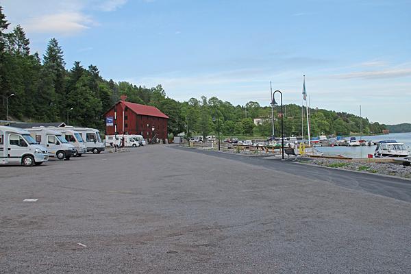 Ställplats hamnen Valdemarsvik.