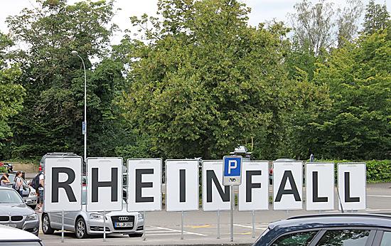 Rheinfall-skylt