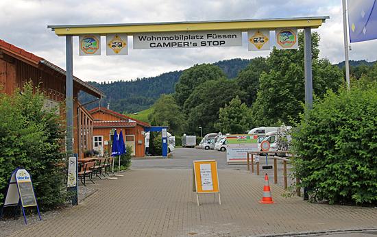 Wohnmobiplatz-Füssen