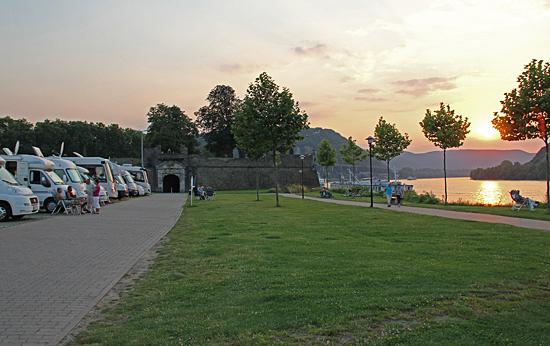 Andernach-solnedgång