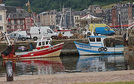 Honfleur-Båtar