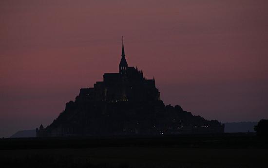 Mont-st-Michel-kväll