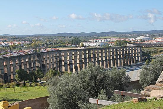 Akvedukten i Elvas, Portugal.