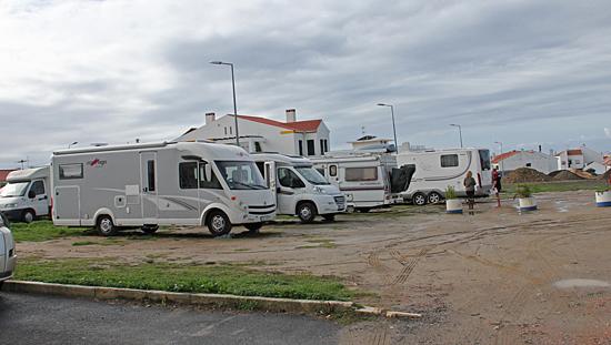 Ställplatsen i Porto Covo, Portugal.