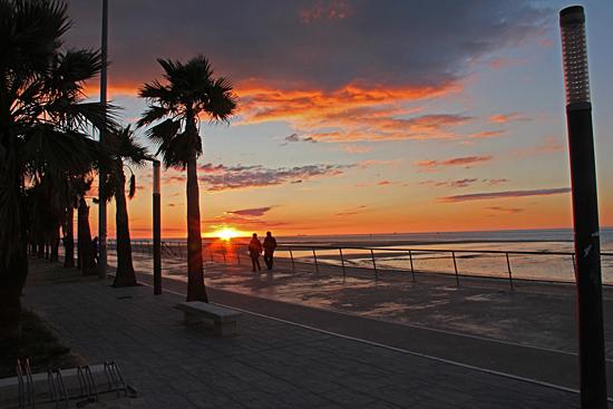Solnedgång i Sanlucar.