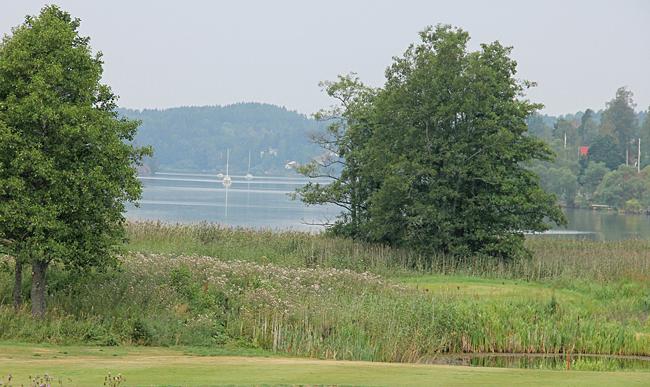 Utsikt från Golfklubben över Asplången.