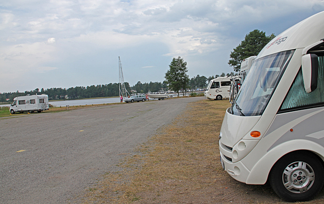 Ställplatsen i Karlsborg.