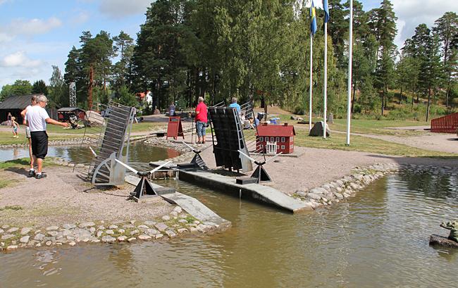 Göta kanal i miniatyr.