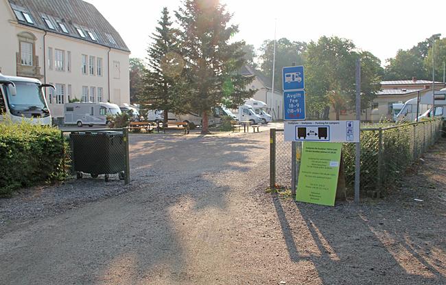 Ställplats vid Bergaskolan i Söderköping