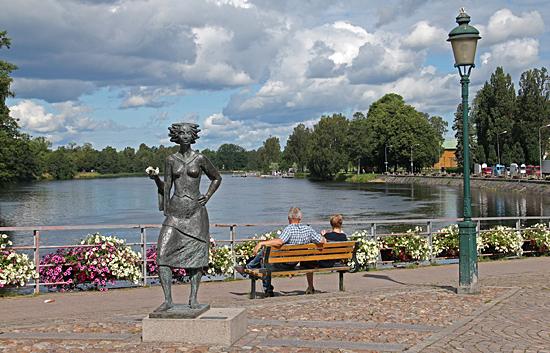 Solen i Karlstad.