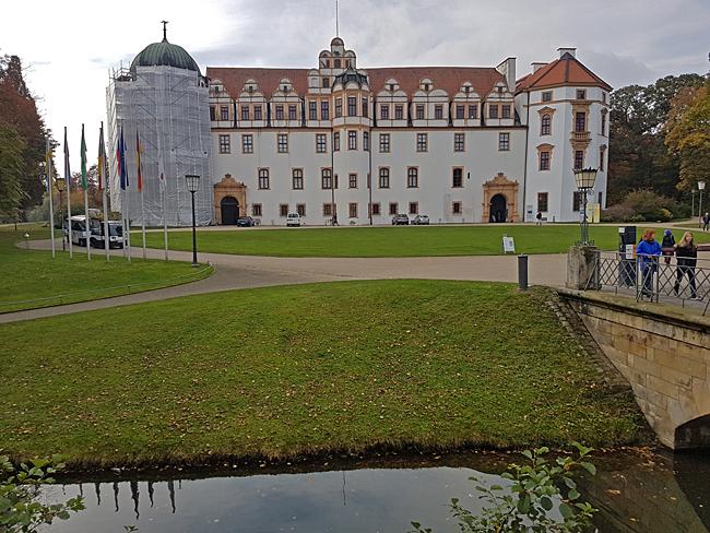 Slottet i Celle med sina oktagonala torn.