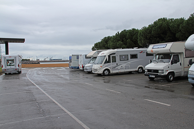 Gratis husbilsparkering i Gijón