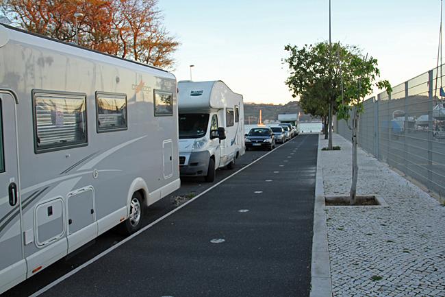 Parkeringsplats i Belém, Lissabon.