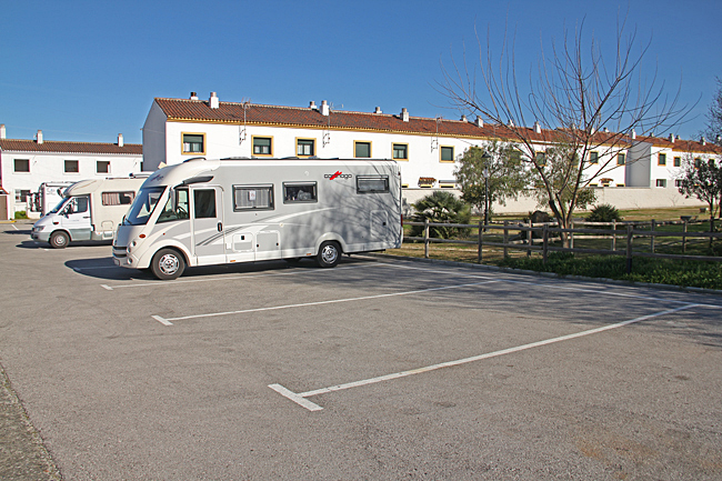 Här finns 24 parkeringar för husbilar.