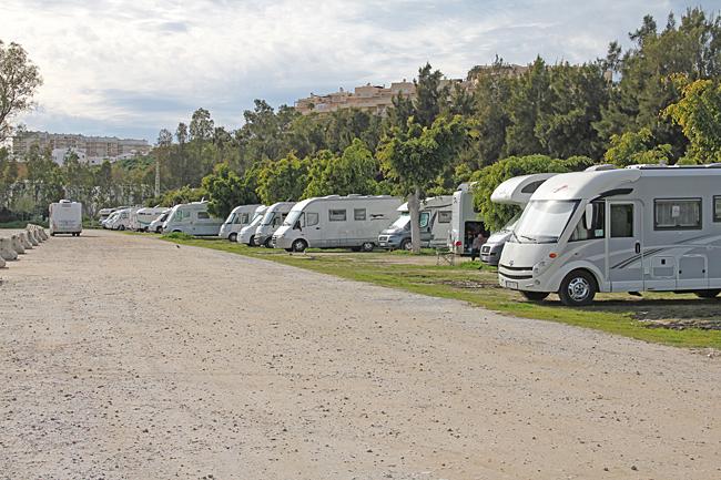 Parkering för husbilar med särskilda regler.
