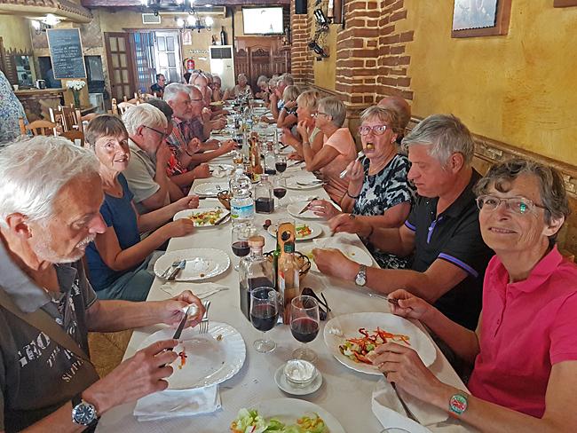 HBK träffen avslutades på söndagen med gemensam middag på restaurang.