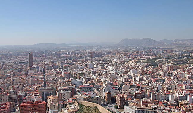 En del av staden från ovan.