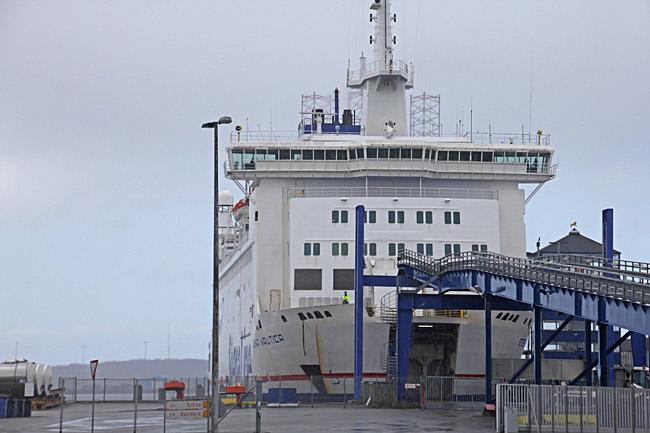 Snart klart att köra ombord på Stena Nautica som trafikerar Varberg - Grenå
