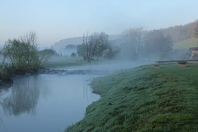 I Goncourt väckte brödbilen oss och hela byn redan 07.30 på söndagsmorgonen.
