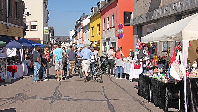 Marknadsdag i Schweich på söndagen.