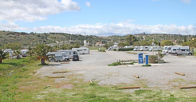 Ställplatsen i Port la Nouvelle.