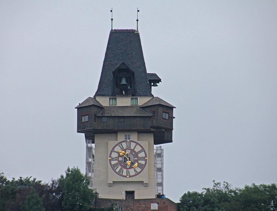 Klocktornet uppe på Slottsberget.