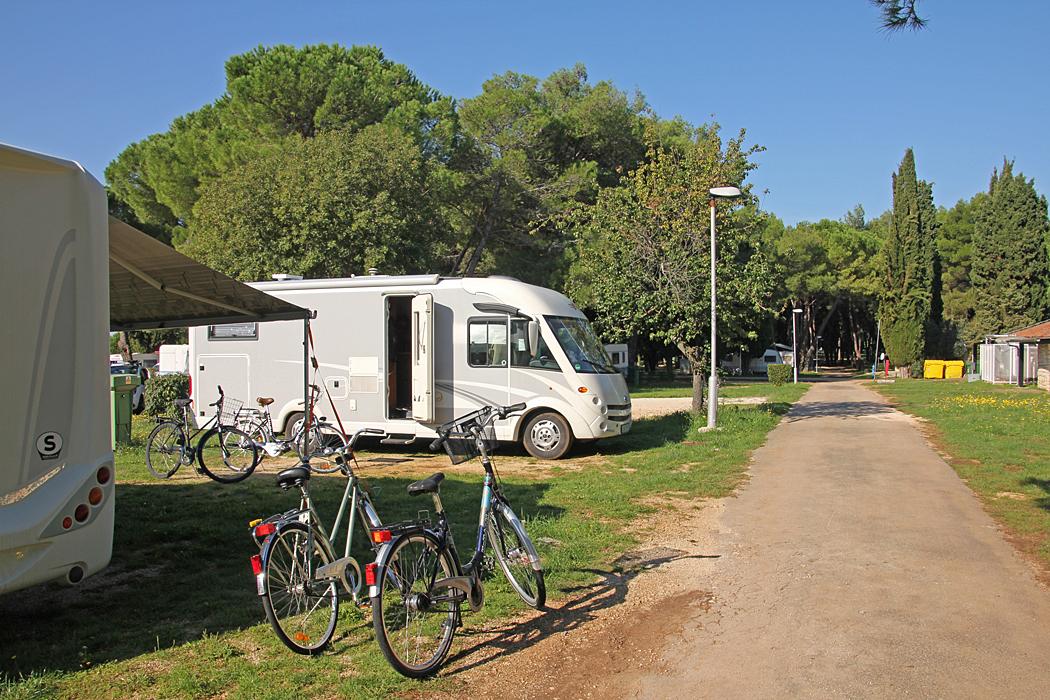 Våra platser på Camping Polari.