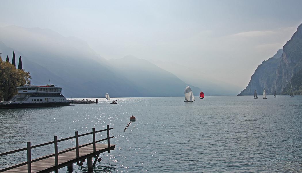 Ljuset var något alldeles extra här i norra delen av Gardasjön.
