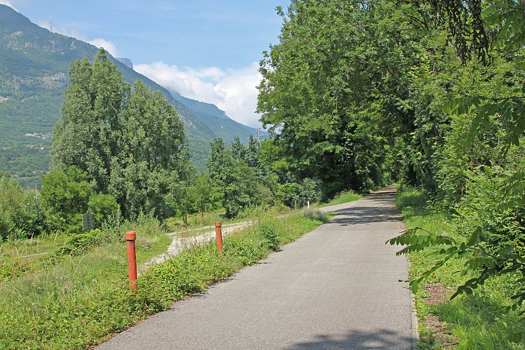 Fin cykelväg mellan Sassenage och Grenoble
