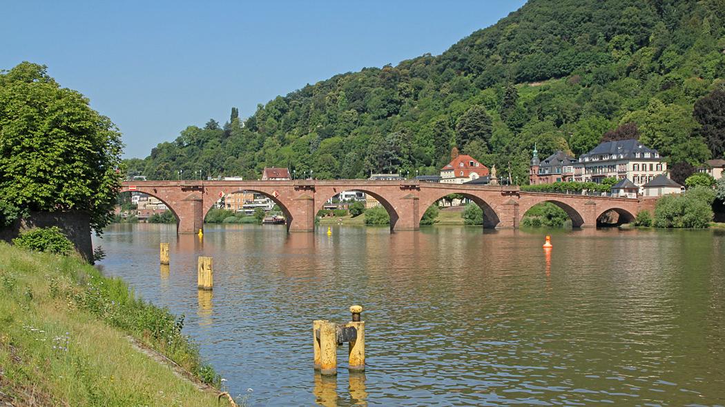 Gammal bro i Heidelberg.