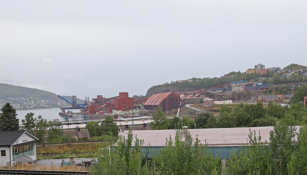 Malmutlastningshamnen i Narvik.