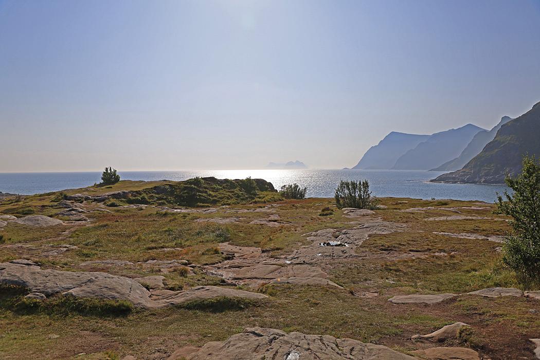 Utsikt över sydspetsen på Lofoten vid Å.