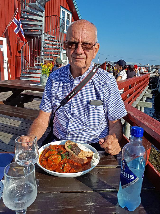 Här smakade vi på Klippfisken i form av  Bacalao en specialite på Lofoten och i Portugal.