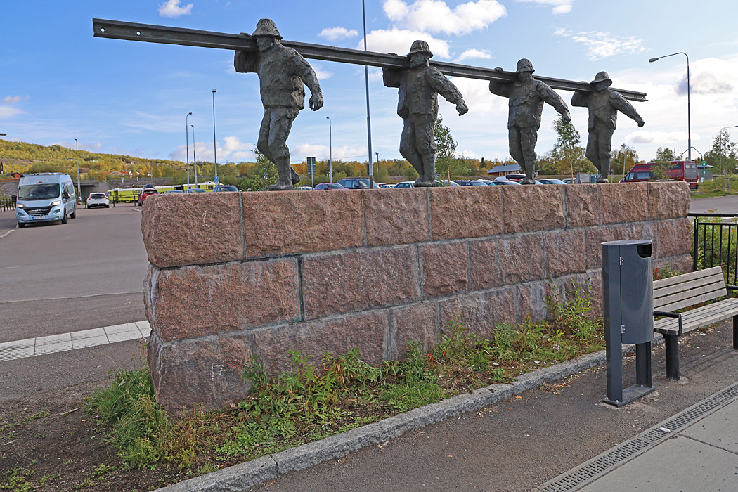 Rälsbäraren vid järnvägsstationen i Kiruna.