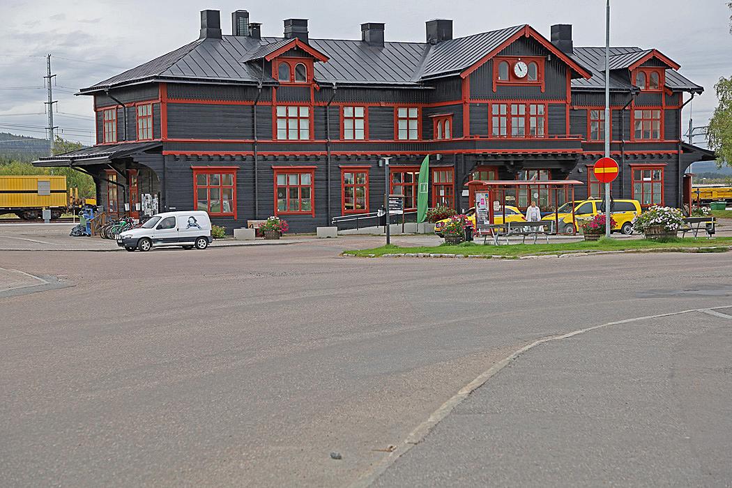 Järnvägsstationen i Gällivare.