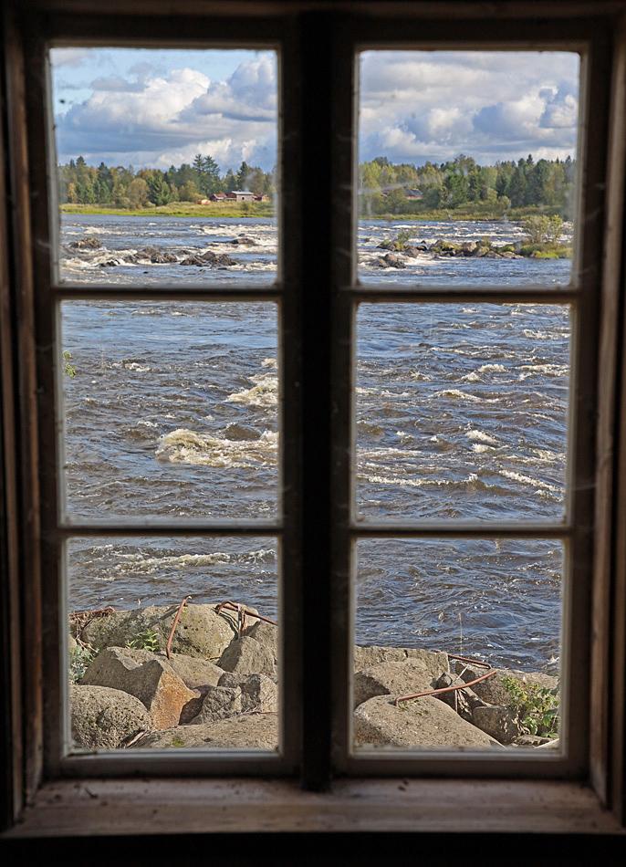 Utsikt från ett fönster inne i Museét.