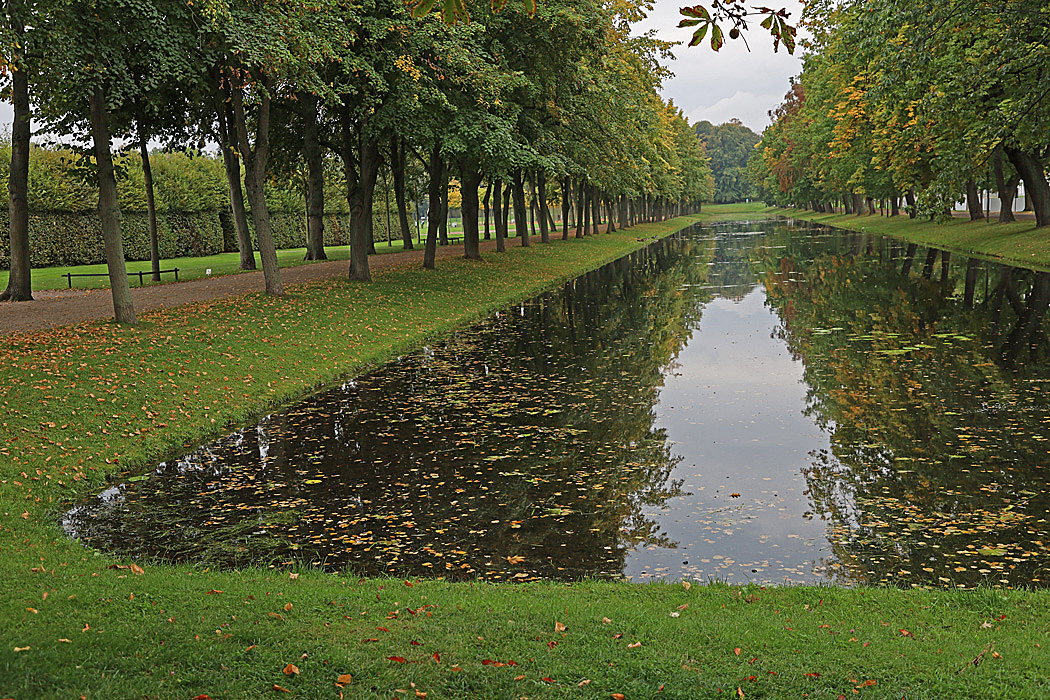 Vattenspegel i Slottsparken.