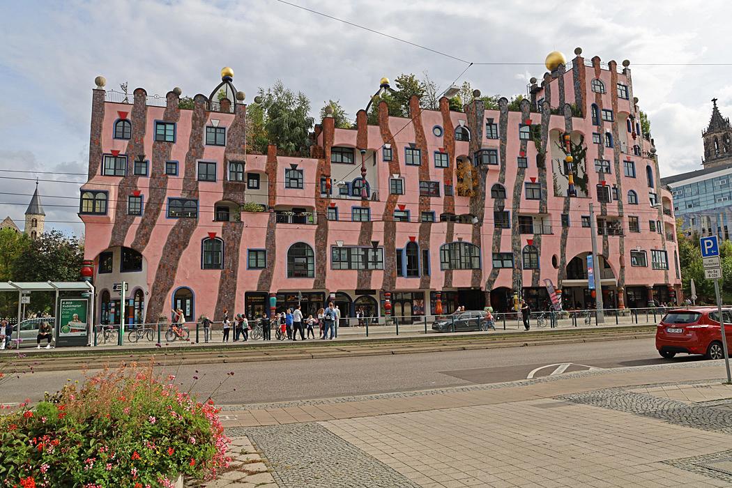 Gröna citadellet, Hundertwasser-huset i Magdeburg.