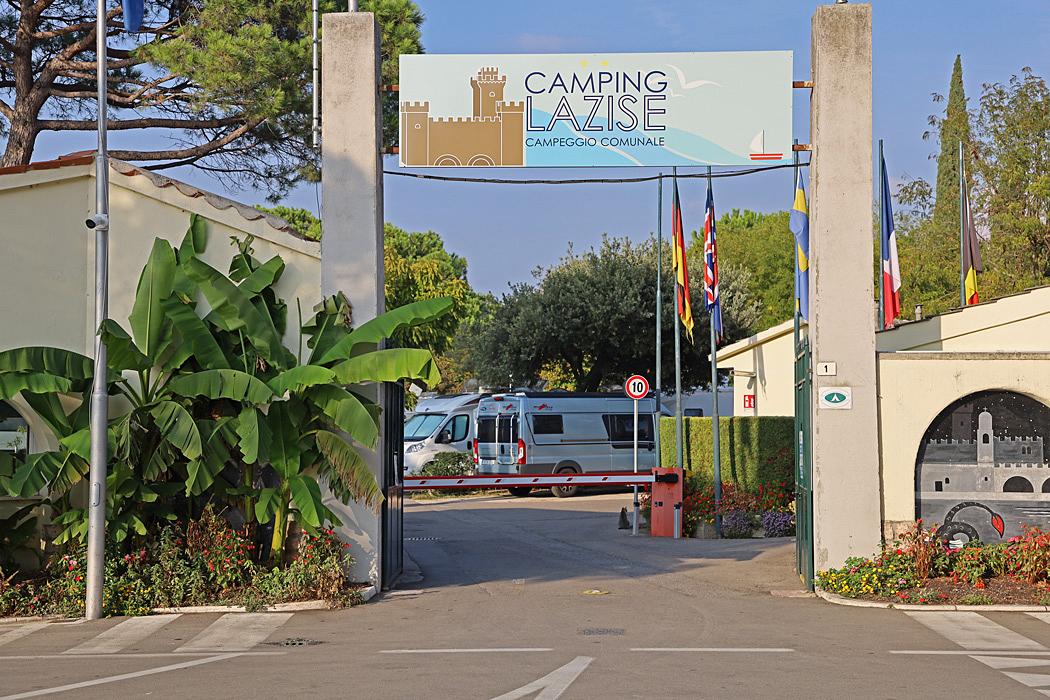 Campegio Municipale, ligger direkt vid centrum och strandpromenaden i Lazise.