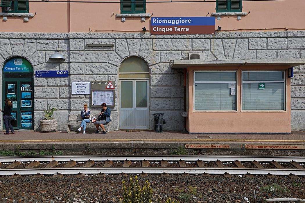 Riomaggiore blir den sista byn på tågresan i Cinque Terre.