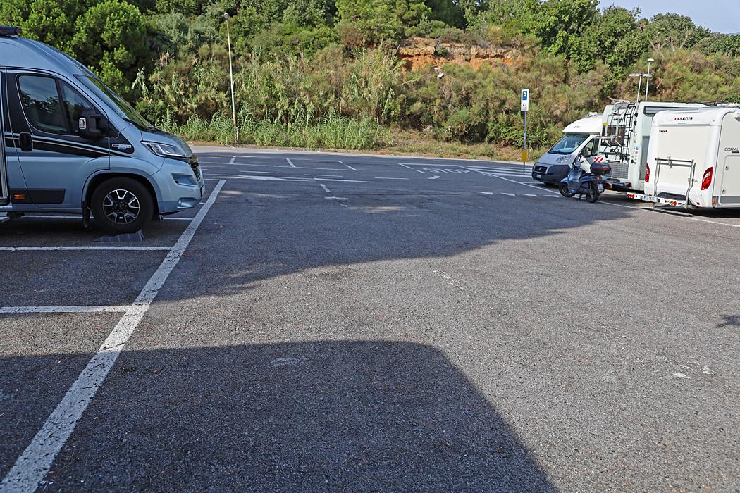 Parkering/Ställplats i Celle Ligure.