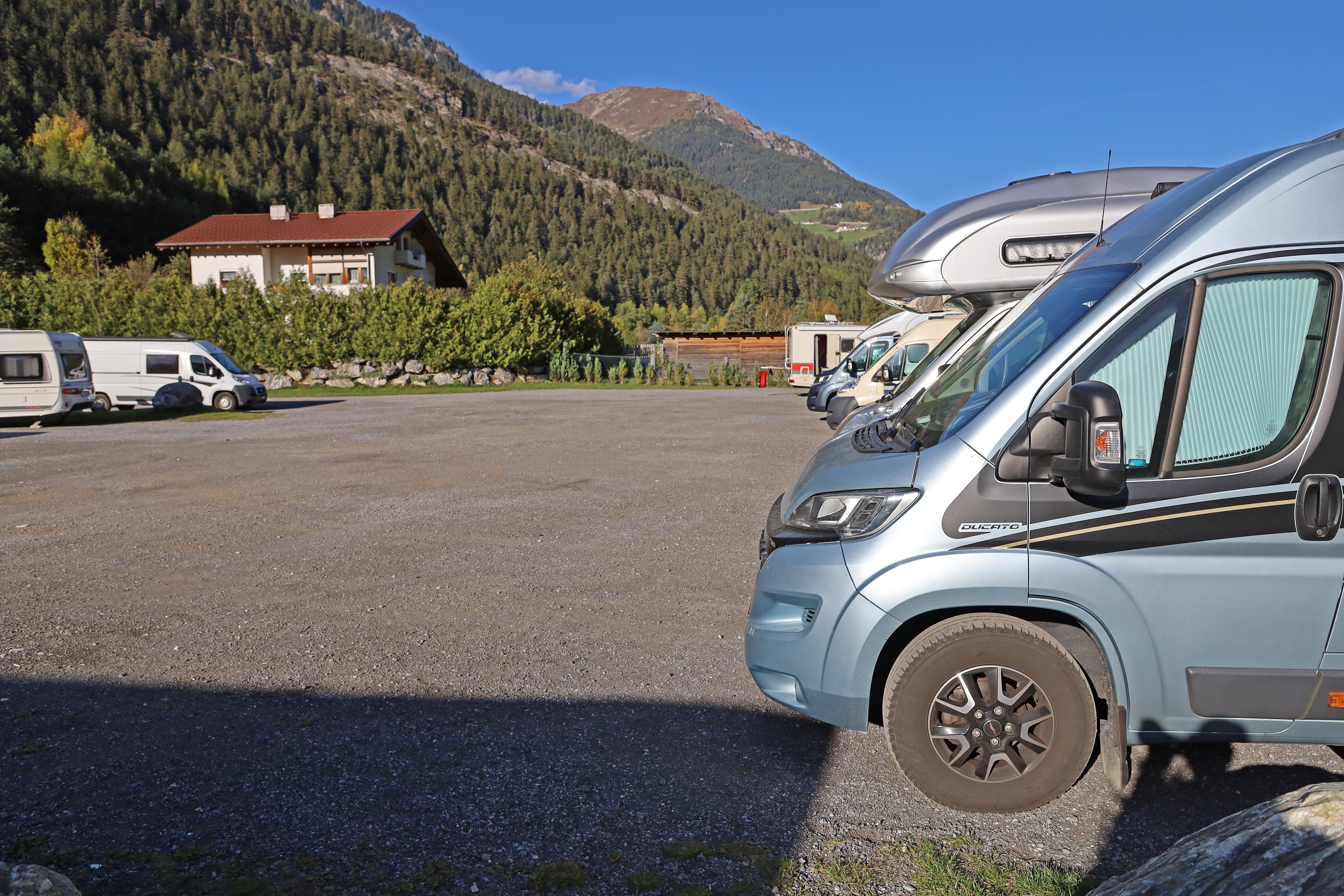 Ställplats/Camping i Pfunds Österrike.
