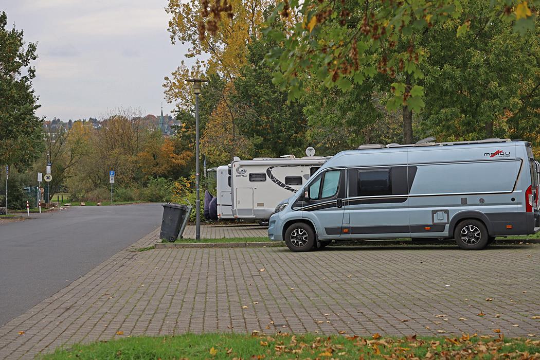 Ställplatsen i Fulda.