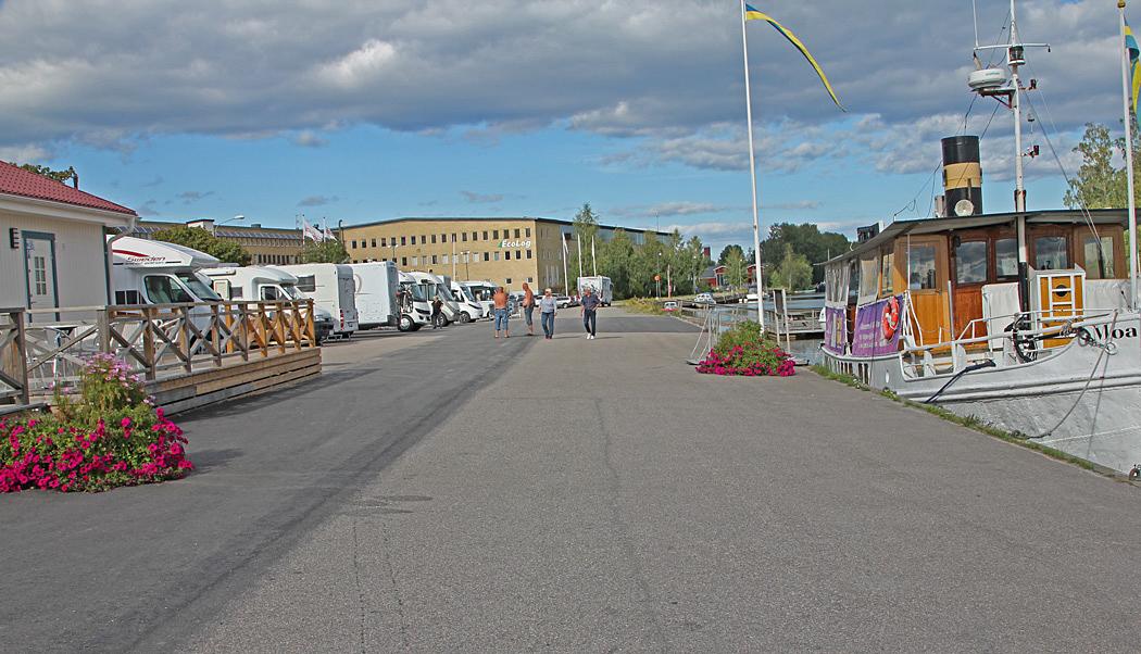 Citycamp är en centralt belägen ställplats på kajen i Söderhamn.
