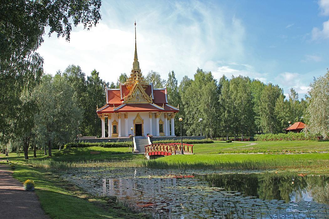 Thailändska paviljongen är en ovanlig syn på dessa breddgrader.