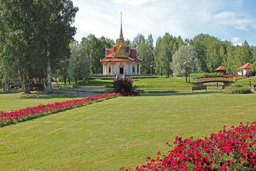 Thailändska paviljongen är en sevärdhet Bispgården.