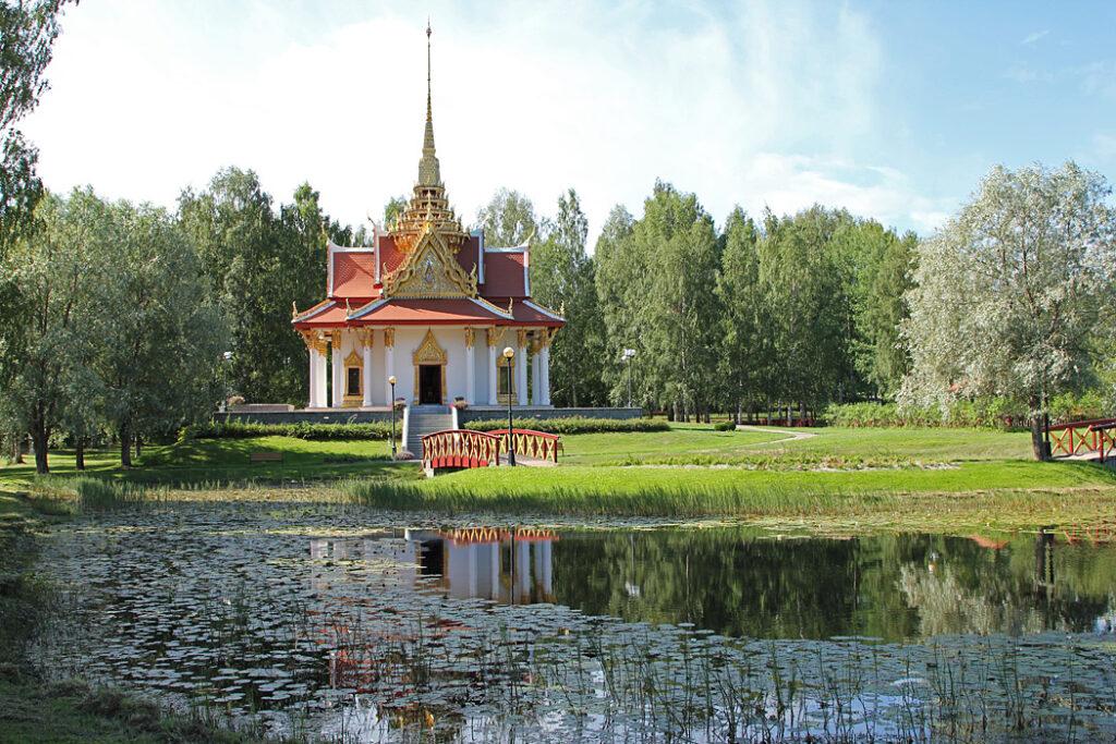 Thailändska paviljongen är en sevärdhet i Bispgården.